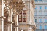 Background of imperial building facades in downtown Vienna, Austria