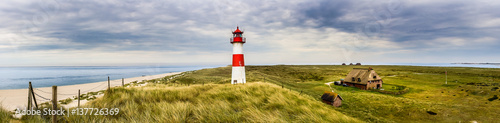 Lighthouse List Ost on the island Sylt - 137726369