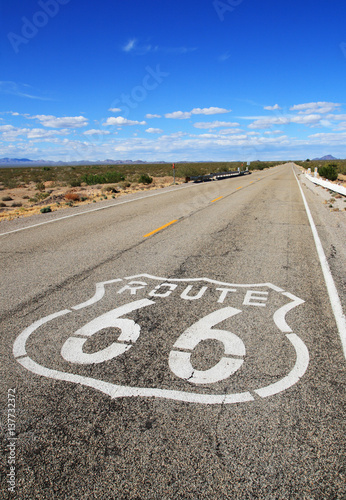 Poster route 66 roadway