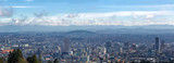 Fototapeta Portland Cityscape with Mt Hood Daytime View Panorama