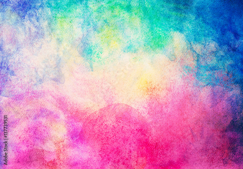 abstract hand painted watercolor on painting paper background and texture. - 137739531