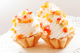 Tartlet with whipped cream