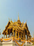 Wat Phra Kaew. Temple of the Emerald Buddha is regarded as the most sacred Buddhist temple in Bangkok Thailand