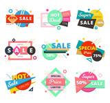 Sale Material Design Geometric Icon Set