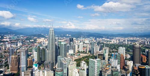 Aluminium Kuala Lumpur Aerial view of Kuala Lumpur skyline, Malaysia