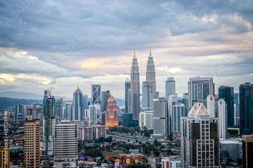 In de dag Kuala Lumpur Aerial view of Kuala Lumpur skyline, Malaysia