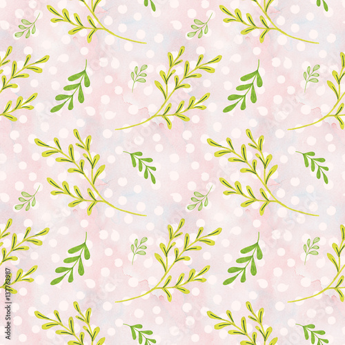 Cotton fabric Flowers Illustration Seamless Pattern Hand-Painted Background Texture Wallpaper Scrapbook