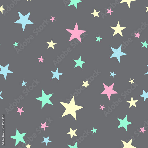 Cute seamless pattern with stars