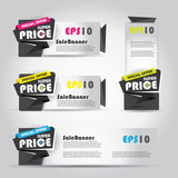 Sale banner template, horizontal advertising business banner template