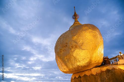 Poster Kyaiktiyo Pagoda or Golden rock in Myanmar