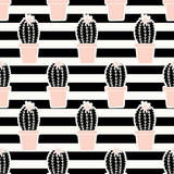 Hand Drawn Cactus Pattern - 137772743