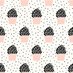 Hand Drawn Succulent Pattern