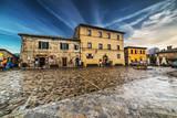Dramatic sky over Monteriggioni