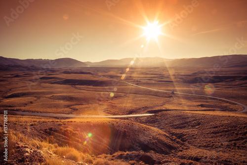 Morocco mountain road