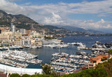 View of yachts and boats in port of Monaco