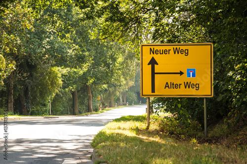 Schild 182 - Neuer Weg Poster
