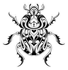Tribal style bug tattoo