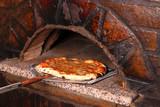 delicious pizza and brick oven