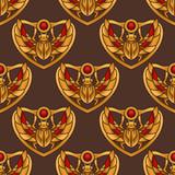 Egyptian Scarab Seamless Pattern