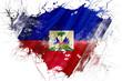 Постер, плакат: Grunge old Haiti flag