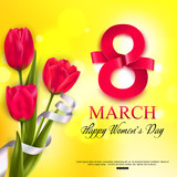 Happy Womens Day background. Vector illustration eps 10 format.