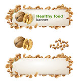 Set banners with walnuts and ground nuts.