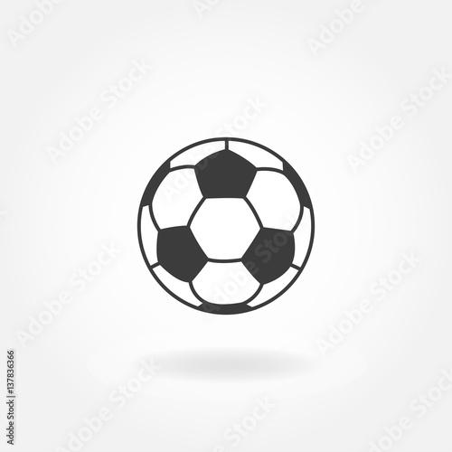 Soccer icon. Football ball or soccer ball vector icon.