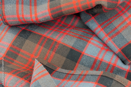 Poster Traditional Scottish Donald Clan Tartan Wool Fabric