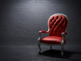 The red armchair - 137863788