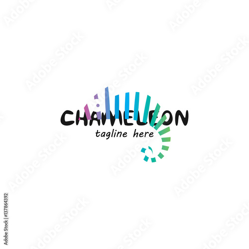 Fototapeta Chameleon logo