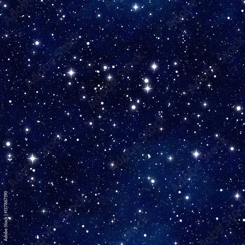 Cotton fabric Seamless  pattern   of starry sky