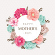 Happy Mother's Day card with beautiful blossom flowers