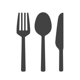 Fork spoon and knife vector isolated - 137878187