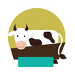 cow animal farm icon vector illustration design