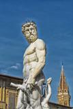 The Neptune statue in piazza della signoria in Florence