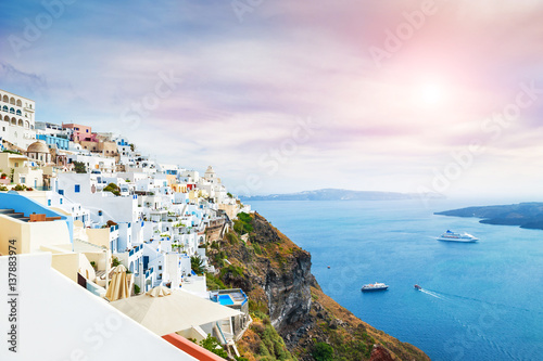 Deurstickers Santorini White architecture on Santorini island, Greece