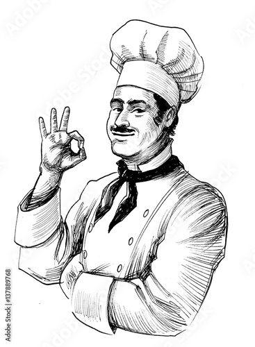 Chef in hat - 137889768