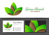 leaf, spa symbol. Corporate Logo and business card sign template. Creative design with colorful logotype business visual identity composition made of multicolored element. Vector illustration