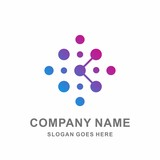 Star Cross Circle Dots Growth Digital Link Connection Technology Computer Business Company Stock Vector Logo Design Template  - 137895946