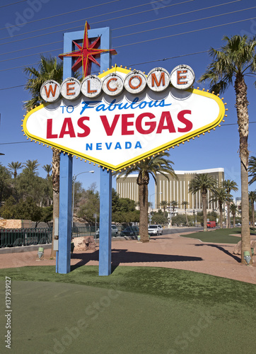 Famous Las Vegas welcome sign