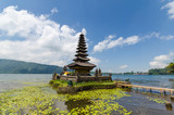 Pura ulun danu bratan temple on lake in bali island indonesia