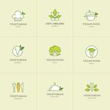 Vegetarian food icons set 1