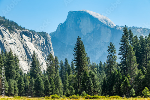 Poster Half Dome from Cooks Meadow