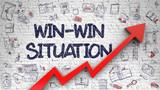 Win-Win Situation Drawn on Brick Wall.  - 137983357