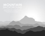 Huge mountain range. Vector illustration.