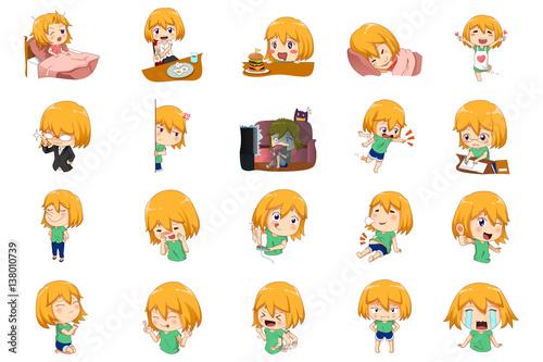 Anime Manga Girl Expressions - 138010739