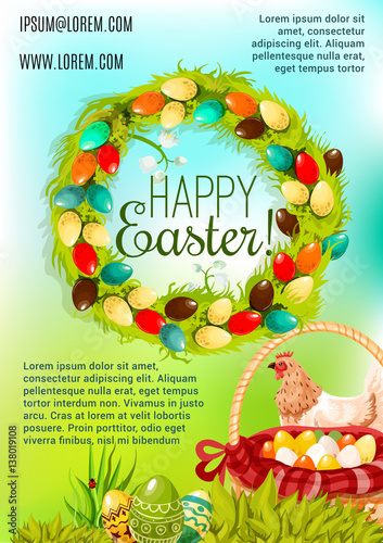Happy Easter Day cartoon poster design