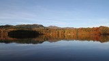 Autumn colours reflected in Loch Faskally Pilochry Scotland