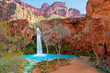 Havasu Falls is located in the Village of Supai on the Havasupai Reservation in the Grand Canyon, AZ