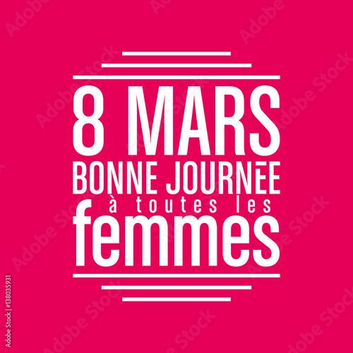 8 mars,journée de la femme